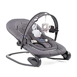 4 position reclining backrest Double position: rocker and hammock fixed Game Bow with Slider System Removable reducer for the first months Ultra compact with carry handles