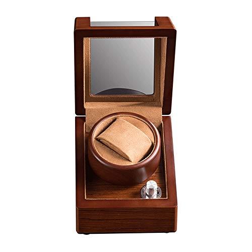 Oksmsa Madera Soltero Automático Cajas Giratorias para Relojes, Motor Silencioso Y Franela Reloj De La Almohadilla, 5 Modo De Roaming, 2 Modo De Carga