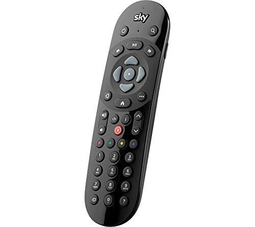 Original Sky Q Voice Fernbedienung - Duracell Batterien enthalten - kompatibel mit Sky Q - Sprachsuchfunktion - Offizielle SKY135