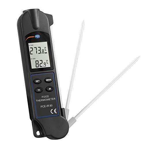 PCE Instruments Termómetro para alimentos para medir por contacto y sin contacto Rango: 0 330ºC PCE-IR 80 PCE Instruments