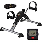 BRITINE Under Desk Pedal Exerciser, Folding Exercise Peddler Under Desk Cycle with Electronic...