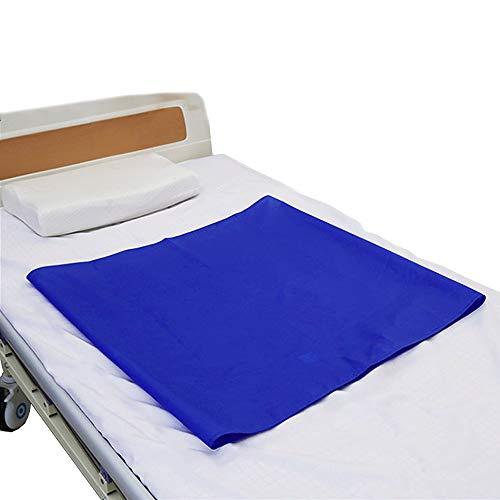 Schiebeblatt, wiederverwendbares Tuch für Betttransfer, Krankenhäuser und häusliche Pflege, röhrenförmiges glattes Gleitblatt für Auto, Rollstühle, Bett (23,6 Zoll x 26,8 Zoll (60 cm * 68 cm))