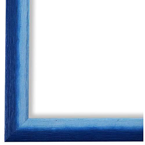 Online Galerie Bingold Bilderrahmen Blau DIN A4 (21,0 x 29,7 cm) cm DINA4(21,0x29,7cm) - Modern, Shabby, Vintage - Alle Größen - handgefertigt - WRF - Pinerolo 2,3