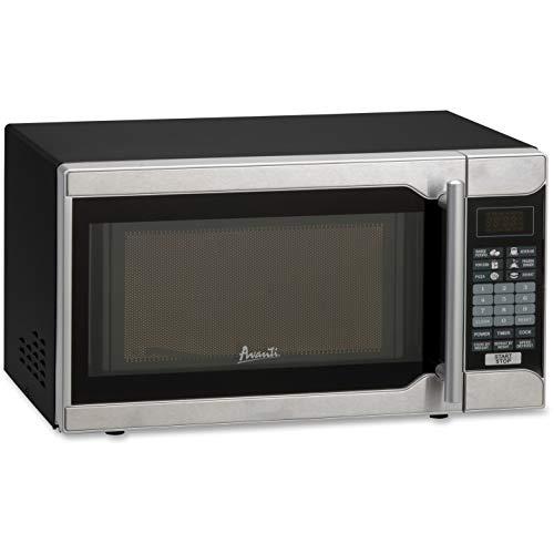 Avanti, AVAMO7103SST, 700-watt One-Touch 0.7 Cubic Foot Microwave, Black,Stainless Steel