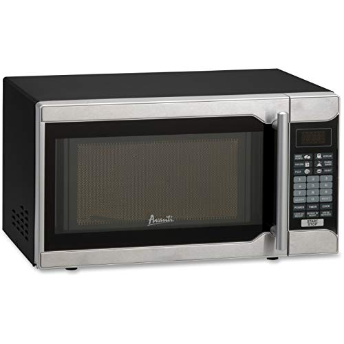 Avanti, AVAMO7103SST, 700-watt One-Touch 0.7 Cubic Foot Microwave, Black,Stainless Steel