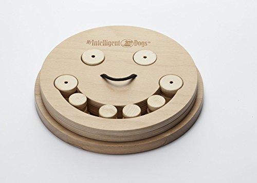 My Intelligent Dogs Interaktives Hundespielzeug aus Holz Smile, M