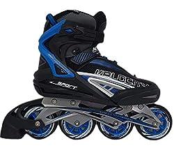 Action Unisex Inlineskates Sportschuhe schwarz blau Größe 43