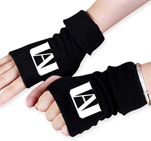 KKSJK My Hero Academia Handschuhe, Winter Warm Unisex Fingerlose Gloves, Stretchy Stricken Handschuhe für MHA Fans Anime-Cosplay, Gaming Tippen