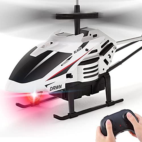 Kikioo Helicóptero de Control Remoto para niños de 2.4Ghz, Gran avión de inducción de Infrarrojos Resistente a caídas, Juguetes para niños, LED, Estabilidad Adicional, avión de 3.5 Canales, Regalo de