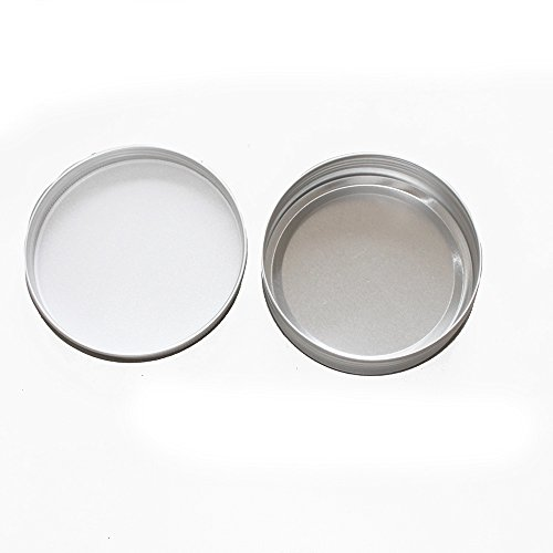 X-Haibei 2 Empty Tin Case for Lotion Bar Soap Hair Wax Skin Moisturizers Aluminum (Dia. 3.1inch)