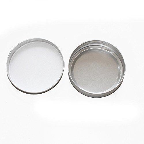X-Haibei 2 Empty Tin Case for Lotion Bar Soap Hair Wax Skin Moisturizers Aluminum (Dia. 3.1inch)