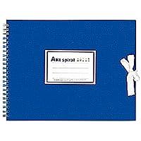 マルマン F2 スケッチブック アートスパイラル 厚口画用紙 ブルー S312-02 5冊セット