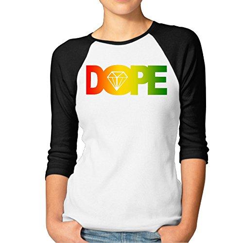 aolm Mujer–Dope Diamond Logo Raglan camisetas