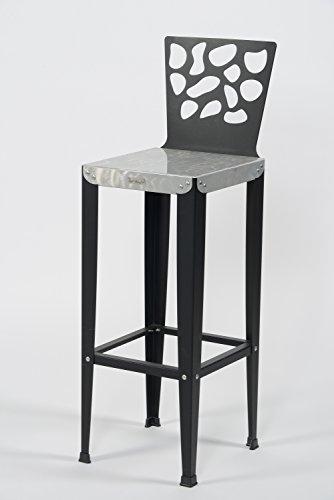 Styl'Métal 21 Lot 2 chaises de Bar Lilou D3 métal Noir H80
