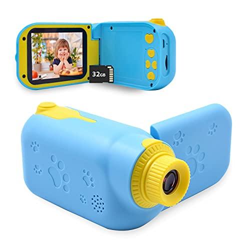 Acelane Kinderkamera, Kinder Digitalkamera, Kleinkind Kamera Spielzeug mit 32 GB TF Karte 1080P Bildschirm, Geschenke Spielzeug für 3-12 Jahre alte Mädchen und Jungen