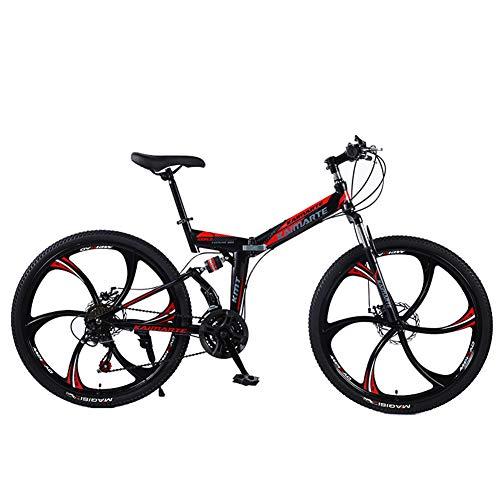 XM&LZ Fetter Reifen Klappräder Outroad Fahrräder,Variable Geschwindigkeit Scheibenbremse Faltrad,Hochkohlestahl Für Erwachsene Studenten C 21 Speed 24inch