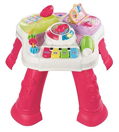 VTech- Play & Learn Table d'activités Rose, 80-148083