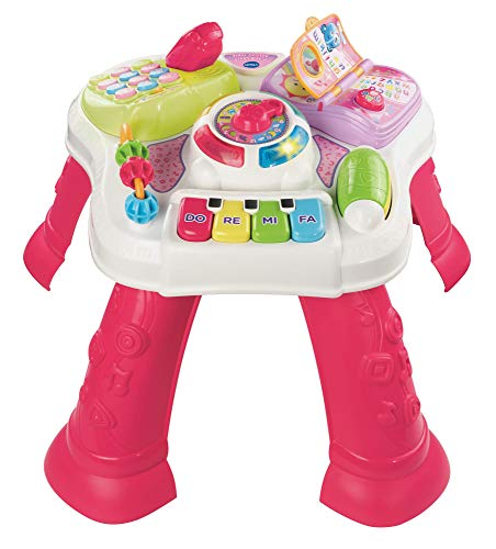 VTech Play & Learn Baby Activity Table, Baby Play Centre, Educational Baby Musical Toy with Shape...