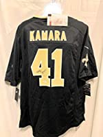 Alvin Kamara New Orleans Saints Signed Autograph Black Nike Game Jersey JSA Witnessed Certified