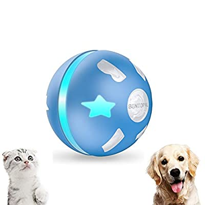 PetDroid Interactive Dog/Cats Ball Toys,Durable Motion Activated Automatic Rolling Ball Toys for Puppy/Small/Medium Dogs,USB Rechargeable (Blue)(Deep Blue) (Medium) by PetDroid