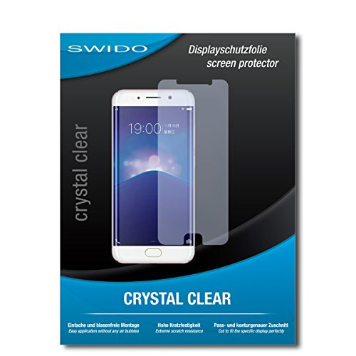 SWIDO Displayschutz für Vivo Xplay 6 [4 Stück] Kristall-Klar, Hoher Härtegrad, Schutz vor Öl, Staub und Kratzer/Schutzfolie, Displayschutzfolie, Panzerglas Folie