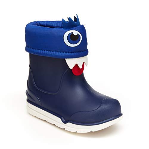DREAM PAIRS Big Kid Kamick Grey Mid Calf Waterproof Winter Snow Boots Size 6 M US Big Kid