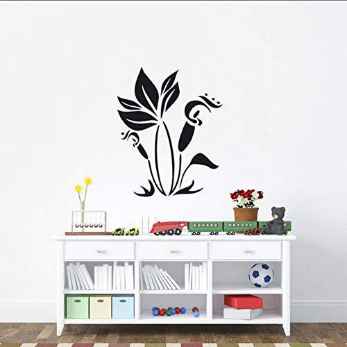 Adesivo Murale Fiore Viticcio Pianta Estate Fiore Fiore Carta da parati moderna Decorazione domestica Soggiorno Arte 48 * 59Cm