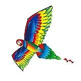 VORCOOL 1 Juego de Cometa de Loro 3D con Colorida Cometa de Pájaro de Cola Larga Fácil de Volar para Niños para Jugar Al Aire Libre