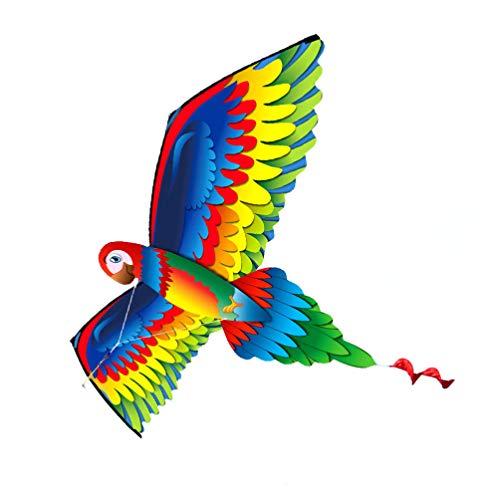 BESPORTBLE Conjunto 1 3D Kite Papagaio Colorido Com Longa Cauda Do Pássaro Pipa Fácil de Voar Para As Crianças Para O Brinquedo Ao Ar Livre