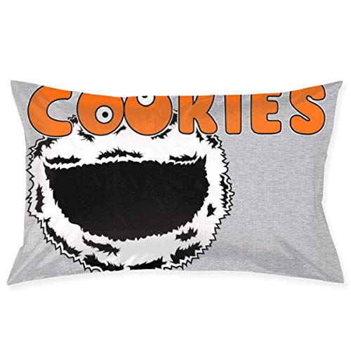 yantaiyu Pillowcase Cookie Mo-Nster Cookies Hooters Logo Mix Home Rectangle Cozy Decorative Unique Anime Pillow Cover Standard Hidden Zipper 40X60Cm Gift Bed Room Throw Pillow Case Cute
