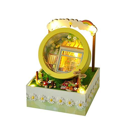 ckground DIY Gartenhaus Bastelsets Handgemachtes Puppenhaus Bastelspielzeug Für Geburtstags