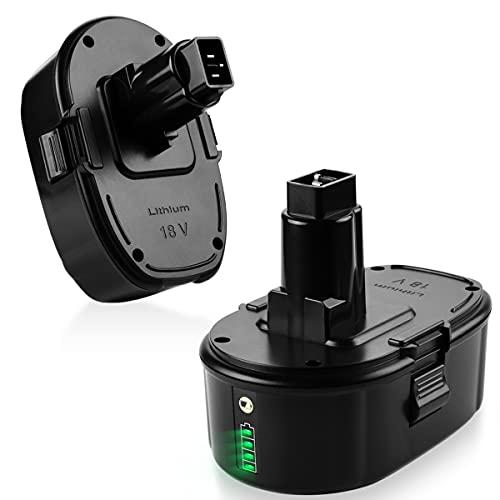 ANTRobut 2Pack 6.0Ah Lithium Battery Replacement for Dewalt 18V Battery XRP DC9096 DC9098 DC9099 DE9096 DE9095 DW9096 DW9098 DW9095 DC9182 Dewalt 18V Batteries