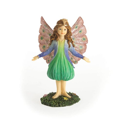 Enesco Boyds Resin from Peacock Fairy Figurine 3.5 in