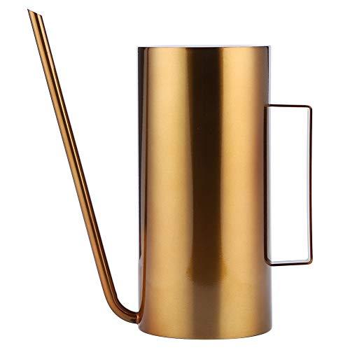 ROSEBEAR Gießkanne aus Edelstahl mit langem Ausguss, für Blumenbewässerung, für Garten und Balkon (Gold 1,5 l)