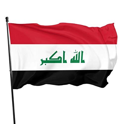 3x5 Vliegen Breeze Voeten Vlag van Irak - Levendige Kleur en UV Fade Resistant Tuin Vlaggen Binnen & Outdoor Decoratieve Vlaggen Banner