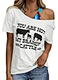 CORAFRITZ Camisetas con Estampado gráfico para Mujer Camisetas de Manga Corta de Verano Blusas Sueltas Informales con Cuello Redondo