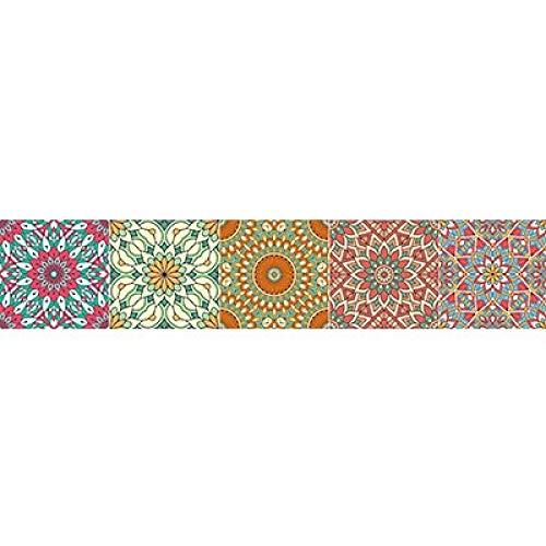 ivAZW Etiqueta engomada Colorida de la Pared del Piso de baldosas Cocina Baño Aseo Decoración Cartel DIY Etiqueta de la Pared 10x50cm 1