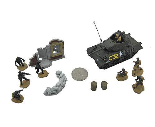 1yess 1:72 Militar del Modelo del Tanque, la Segunda Guerra Mundial EE.UU. M10 Tank Destroyer Terminado Modelo, de colección y Regalo (4.3Inchtimes; 1.6Inchtimes; 1.6inch)