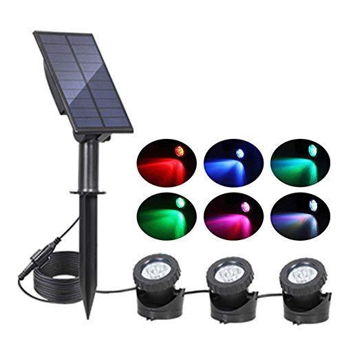 Luz Solar para Estanques Subacuáticos, Lámparas Sumergibles A Prueba De Agua, Luz...