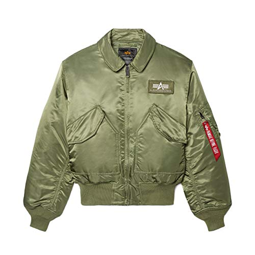 Alpha Industries Men's CWU 45-P Flight Jacket (M, Sage)