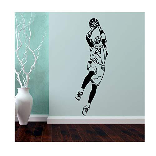 J&MY Custom Basketball Star Kobe Bryant's Blackboard Sticker. Woonkamer Slaapkamer Raam Glas Muursticker PVC Verwijderbare Decoratieve Sticker