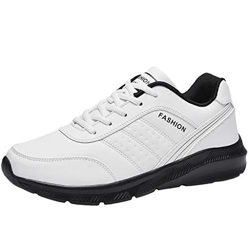 Aoogo Herren Rutschfester Verschleiß Sneaker Straßenlaufschuhe Sportschuhe Turnschuhe Outdoor Leichtgewichts Laufschuhe Freizeit Atmungsaktive Fitness Schuhe