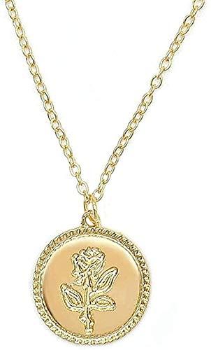 YOUZYHG co.,ltd Collar joyería colliers Oro Rosa declaración Colgante Collar de Las Mujeres la Bella y la Bestia joyería suéter Cadena Pareja Regalo