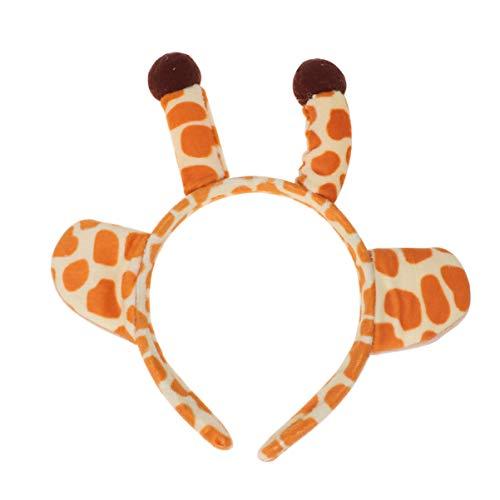 Amosfun Halloween Giraffe Hoofdband Giraffe Oor Haar Band Dier Kostuum Haar Hoop voor Kinderen Meisjes Kinderen