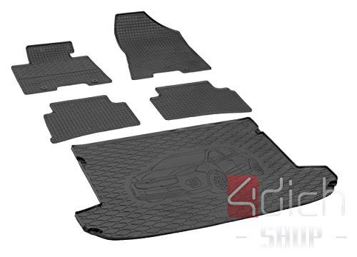 Passgenaue Kofferraumwanne und Gummifußmatten geeignet für KIA Sportage ab 2016 + Autoschoner MONTEUR