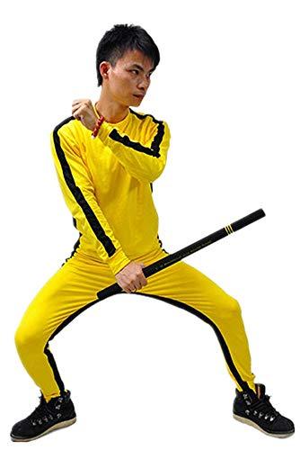 EEKUY Bruce Lee Siames-Kleidung, Fitnesstraining-Kleidung, Jugendliche Sportswear Anzug Bruce Lee Fans Kollektion, m