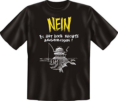 Angler T-Shirt Nichts angebissen Angel-Shirt 4 Heroes Geburtstag-Geschenk geil Bedruckt mit Angler-Urkunde