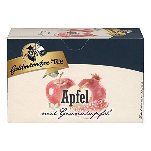 Goldmännchen Tee Apfel-Granatapfel, Früchtetee, 20 einzeln versiegelte Teebeutel