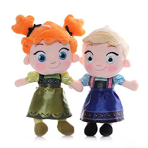 2 unids Original Frozen Linda Anna Princess Plush Toy Dollsbirthday Toy Day Day regalos