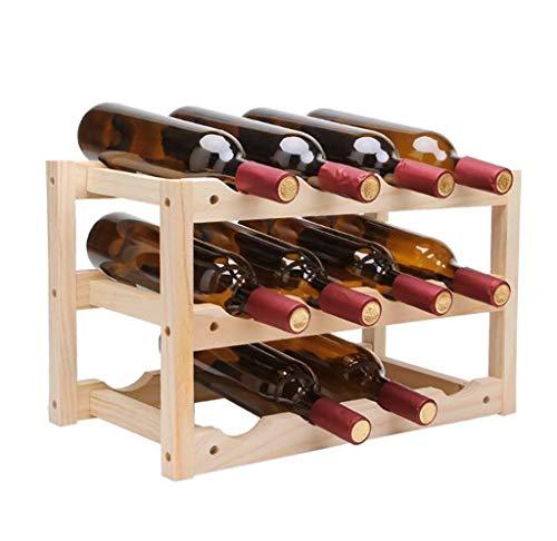 JIANGCJ Gama Alta Fagavin Estante de Vino, Estante de Vino de Madera Maciza, decoración de la Sala de Estar de la casa, Estante de Vino del Restaurante, Botella de Vino Tamaño: 46 * 24 * 28 cm